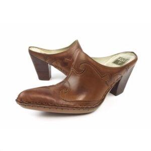 Frye Phoenix Burnished Leather Pointed Toe Heels